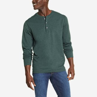 Men's Adventurer  Long-Sleeve Henley in Green