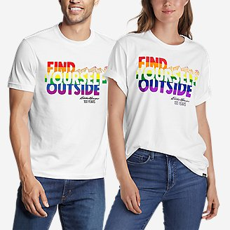 Graphic T-Shirt - Find Yourself Outside in White
