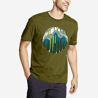 Men's Graphic T-Shirt - Outdoor Groove in Green