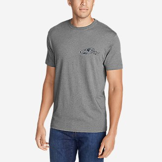 Men's Graphic T-Shirt - Drive Bauer in Gray