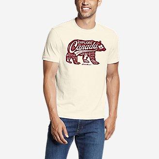 Men's Graphic T-Shirt - Explore Canada in White