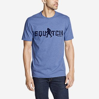 Men's Graphic T-Shirt - Squatch in Blue