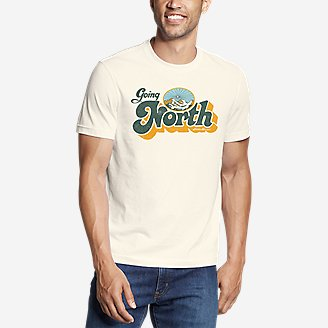 Men's Graphic T-Shirt - Going North in White