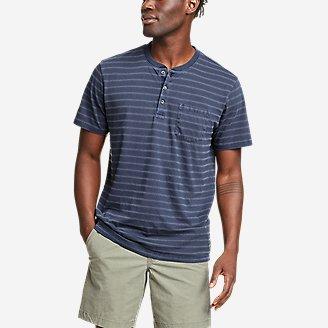 Men's Tidelands Short-Sleeve Henley in Blue