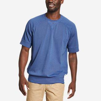 Men's Camp Fleece Riverwash Short-Sleeve Crew Sweatshirt in Blue