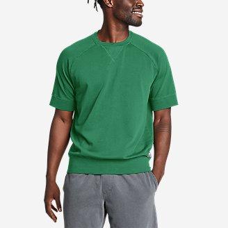 Men's Camp Fleece Riverwash Short-Sleeve Crew Sweatshirt in Green