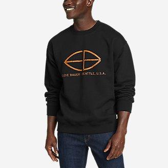 Men's Eddie Bauer Signature Sweatshirt in Black