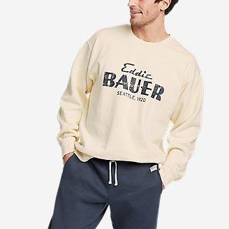 Men's Eddie Bauer Signature Sweatshirt in Beige