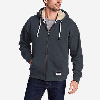 Men's Signature Sherpa-Lined Full-Zip Hoodie in Blue