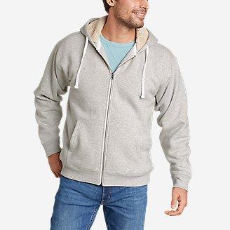 Men's Signature Sherpa-Lined Full-Zip Hoodie in Gray