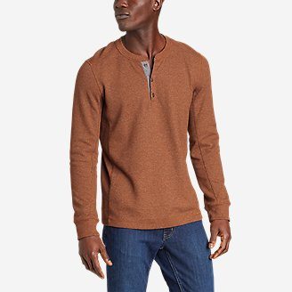 Men's Eddie's Favorite Ultrasoft Thermal Henley in Red