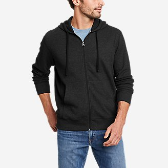 Men's Eddie's Favorite Thermal Full-Zip Hoodie in Gray
