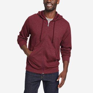 Men's Eddie's Favorite Thermal Full-Zip Hoodie in Red