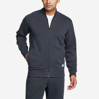 Men's Signature Sweatshirt Bomber in Blue