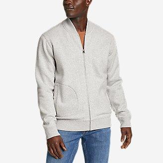 Men's Signature Sweatshirt Bomber in Gray