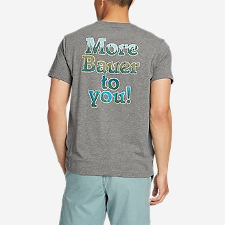 Men's Graphic T-Shirt - More Bauer in Gray