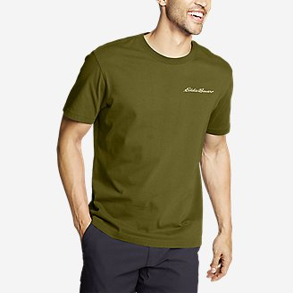 Men's Graphic T-Shirt - Mount Bauer in Green