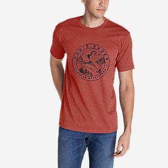 Men's Graphic T-Shirt - Circle Topo in Orange