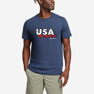 Men's Graphic T-Shirt - Retro USA in Blue