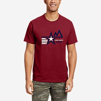 Men's Graphic T-Shirt - Mod Star in Red
