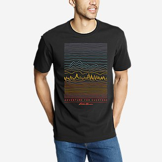 Men's Graphic T-Shirt - Adventure For Everyone in Black