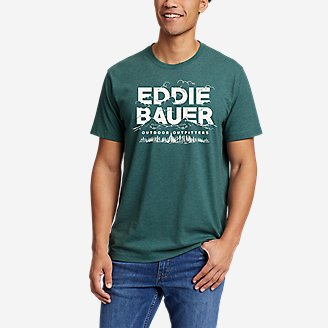 Men's Graphic T-Shirt - In The Clouds in Green