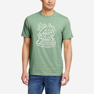 Graphic T-Shirt - Mt. Baker in Green