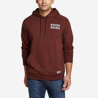 Men's Camp Fleece Pullover Hoodie - Graphic in Brown