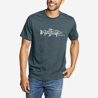 Men's Graphic T-Shirt - Fish Scene in Blue