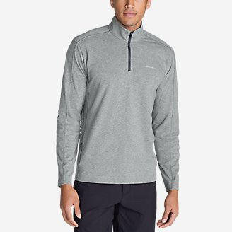 Men's Lookout 1/4-Zip Mockneck in Gray
