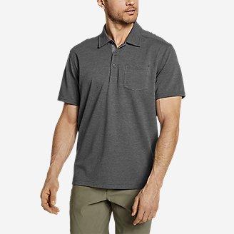 Men's En Route Short-Sleeve Polo Shirt in Gray