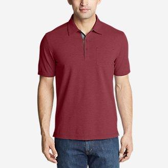 Men's En Route Short-Sleeve Polo Shirt in Red