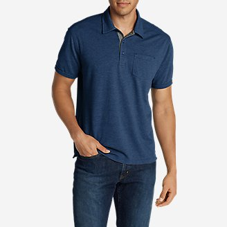 Men's En Route Short-Sleeve Polo Shirt in Blue