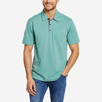 Men's En Route Short-Sleeve Polo Shirt in Green