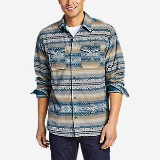 Men Eagle blue jeans Long Sleeve Denim shirt Off White Solid small medium Large