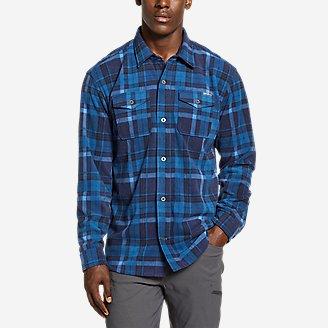 Men's Chutes Microfleece Shirt in Blue