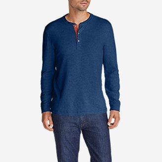 Men's Basin Double-Knit Henley in Blue