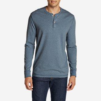 Men's Legend Wash Henley Shirt in Blue