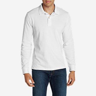 Men's Field Long-Sleeve Polo Shirt in White