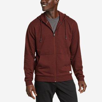 Men's Camp Fleece Full-Zip Hoodie in Brown