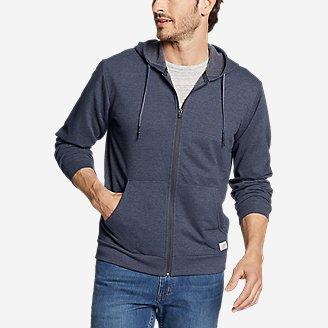 Men's Camp Fleece Full-Zip Hoodie in Blue