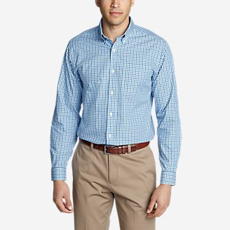 Men's Wrinkle-Free Relaxed Fit Pinpoint Oxford Shirt - Blues in Blue