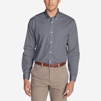 Men's Wrinkle-Free Classic FIt Pinpoint Oxford Shirt - Solid in Gray