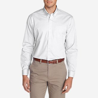 Men's Wrinkle-Free Classic FIt Pinpoint Oxford Shirt - Solid in White