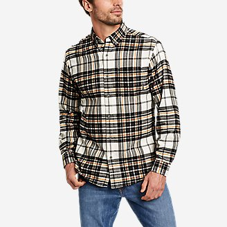 Men's Eddie's Favorite Flannel Relaxed Fit Shirt - Plaid in White