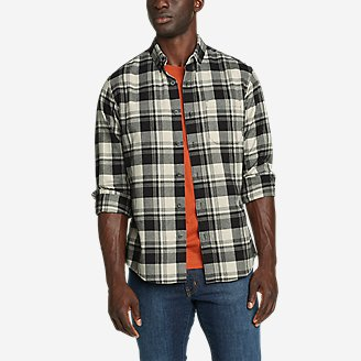 Men's Eddie's Favorite Flannel Relaxed Fit Shirt - Plaid in Gray