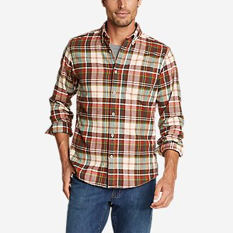 Men's Eddie's Favorite Flannel Shirt - Slim in Red