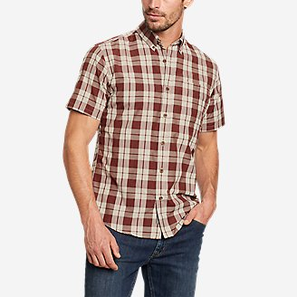Men's On The Go Short-Sleeve Poplin Shirt in Orange