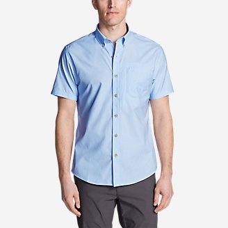 Men's On The Go Short-Sleeve Poplin Shirt in Blue