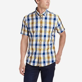 Men's On The Go Short-Sleeve Poplin Shirt in Yellow